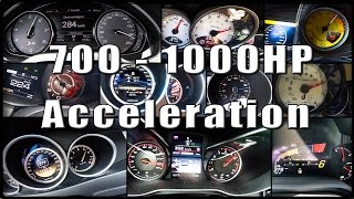 Download 700 - 1000HP SUPERCAR Acceleration TUNED Compilation Video