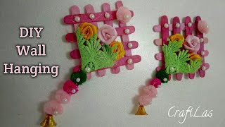 Diy Wall Hanging Idea Out Of Wool Ice Cream Stick Wall Hanging