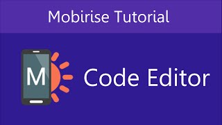 Download Mobirise Code Editor Extension | Video 21 of 27 Video