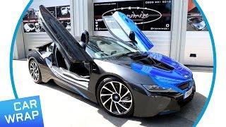 Download BMW i8 wrapped Chrome Blue for BMW i Park Lane Video