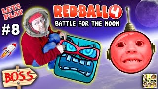 Download Chase & Dad play REDBALL 4! Battle for the Moon BOSS BATTLE! Levels 56 - 60 (Part 8 Gameplay) Video