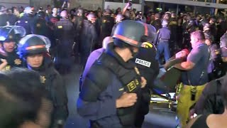 Download Team Coverage: Hundreds Protest Conservative Speech At UC Berkeley Video