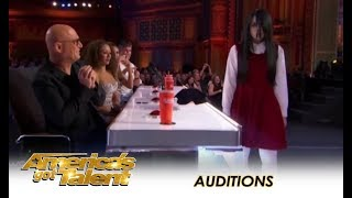 Download Sacred Riana: Famous CREEPY Girl Magician Comes To America! | America's Got Talent 2018 Video