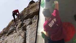 Download Teen With 1 Arm Finds Success as a Rock Climber Video