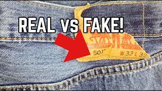Download LEVI'S JEANS | REAL VS FAKE | HOW TO SPOT FAKE LEVI'S JEANS! Video