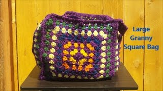 Download Large Granny Square Bag Video