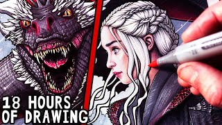 Download Let's Draw DAENERYS and DROGON - GAME OF THRONES - FAN ART Video