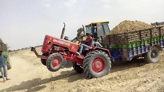 Download Mahindra 265 trolley overloading trapped gear fails to remove small chunks of village Raju ki Masti Video