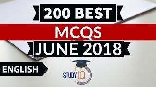 Download 200 Best current affairs JUNE 2018 in ENGLISH Set 2 - IBPS PO/SSC CGL/UPSC/KVS/IAS/RBI Grade B 2018 Video