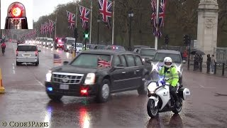 Download President Obama Secret Service Motorcade in London 2016 Video