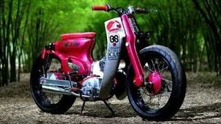 Modifikasi Honda C70 Mesin Yamaha Mio J Racing Super Cub Honda C70