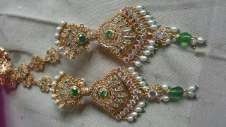 Download Rajputi Earrings design | Goldn Earrings Indian Design | new Fancy Rajputi Earrings Design Video