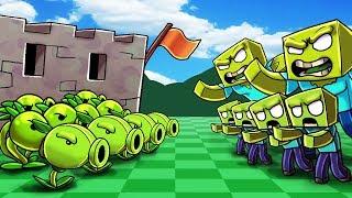 Download Minecraft | PLANTS VS ZOMBIES BOSS CHALLENGE! (ZOMBIE BOSS ATTACKS) Video