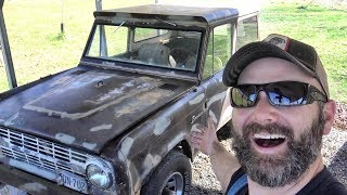 Download 1968 BRONCO GOES TO THE CRUSHER?? OR...WILL IT RUN?? Video