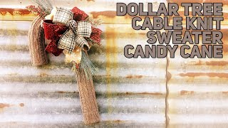 Download DIY Cable Knit Dollar Tree Candy Cane Wreath - Chronic Pain and Giving Up - Christmas 2019 Video