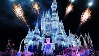 Download A Frozen Holiday Wish Walt Disney World Castle Lighting Show Magic Kingdom 2014 Video