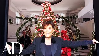 Download Kris Jenner On Her Kardashian-Jenner Family Christmas Holiday Décor | Architectural Digest Video