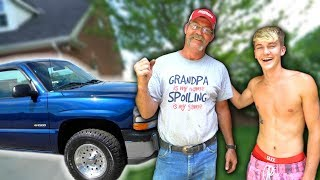 Download SURPRISING MY GRANDPA WITH A NEW TRUCK! Video