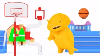 Download Learn colors playing Basket-ball with Dino the Dinosaur 🙋 Educational cartoon for children Video
