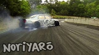 Download Destroying rubber on a touge-style track in Japan Video