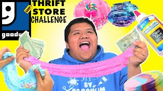 Download THRIFT STORE SLIME CHALLENGE!!! BUYING ALL MY SLIME SUPPLIES FROM THE THRIFT STORE!! GOODWILL SLIME! Video