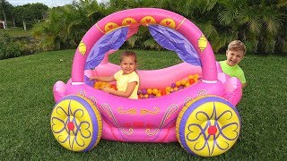 Download Diana Pretend Play with Princess Carriage Inflatable Toy Video
