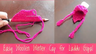 Download Make Easy Woollen Winter Cap for Laddu Gopal using Pencil| Kanhaji ki Cap/Topi| Quicky Crafts Video