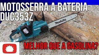 Download Testando a Motosserra a bateria DUC353Z Makita | Unboxing Video