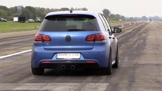 Download 740HP Volkswagen Golf 6 R 3.6 HGP Biturbo vs. Ferrari 488 GTB vs. Mercedes-AMG GTS Video