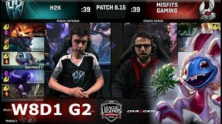 Download H2K Gaming vs Misfits | Week 8 Day 1 S8 EU LCS Summer 2018 | H2K vs MSF W8D1 Video