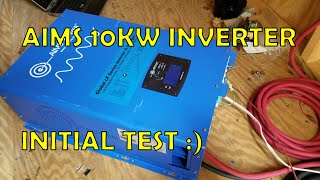 Download First Test of AIMS 10kw Split Phase Inverter, Starts An Air Compressor! Video
