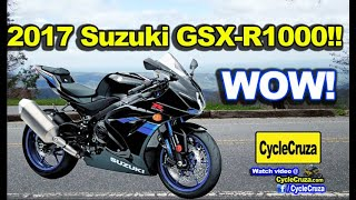 Download 2017 Suzuki GSX-R1000 New BADASS - CBR or GSXR? Video