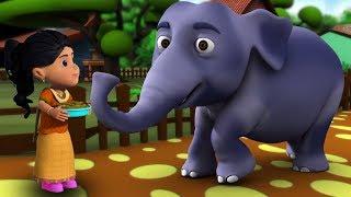 Download Hathi Raja Kahan Chale | Hindi Nursery Rhymes | Baby Rhymes | Kids Song | हाथी राजा कहाँ चले Video