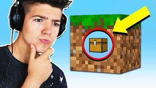 Download SURVIVNG MINECRAFT WITH 1 CUBE... Video
