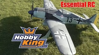 Download ESSENTIAL RC FLIGHT TEST: HobbyKing GIANT RC 1.6 ELECTRIC FW-190 WARBIRD (ESS-AIR Sound System) Video