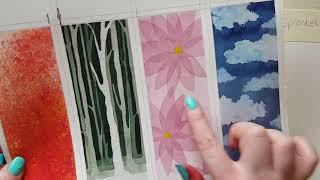 Download Aquarell für Anfänger - 4 Techniken   DIY Lesezeichen   Mini Verlosung (Beendet) Video