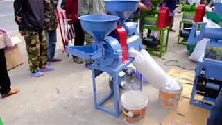 Download (A17) เครื่องสีข้าว+บด แม็คนั่ม 2018 ราคา 10,490 บาท [Rice mill and grinding] Video