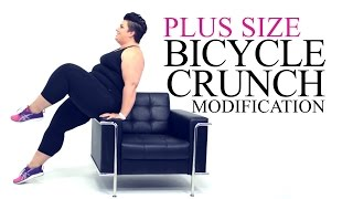 Download Bicycle Crunch Exercise Modification - plus size - workout - episode 9 Video