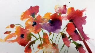 Download Loose Wet into Wet Watercolours with Andrew Geeson 'Poppies' Video