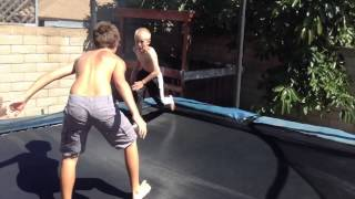 Download WWE Tag Team Match (Trampoline) Video