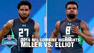 Download Ezekiel Elliott vs. Braxton Miller | 2016 NFL Combine Face Off Video