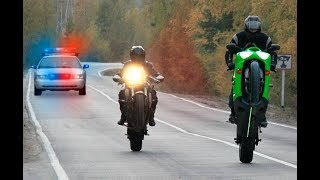 Download Street Racers Police Chases FAILS & WINS 2018 - Motorcycle Cops Compilation Video