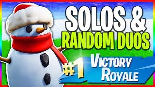 Download 🔴 Solos & Random Duos // 1000+ Wins // NEW Skins (Fortnite LIVE Gameplay) Video