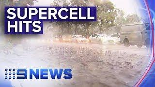 Download Torrential rain sweeps NSW east coast | Nine News Australia Video