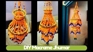 Download DIY Two storey Macrame Jhumar Design 3 | Macrame Art Video