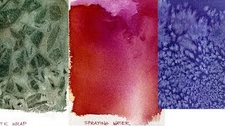 Download Watercolor Painting Lessons - Special Effects Video
