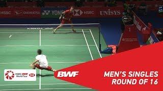 Download R16 | MS | Viktor AXELSEN (DEN) [1] vs Kenta NISHIMOTO (JPN) | BWF2018 Video