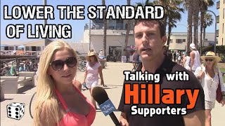 Download Hillary Supporters Hope She'll LOWER the STANDARD of LIVING if Elected President!! Video