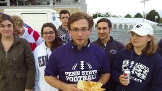 Download Penn State football QB Trace McSorley delivers pizza and drinks to Nittanyville campers Video