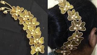 Download Hair brooch making at home | Hair brooch design | Hair brooch for wedding Video